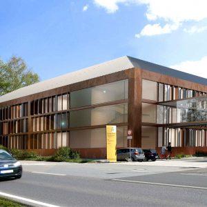 Bild der Außenfassade zur Einhäusigkeit am Ev. KH Weende in Göttingen